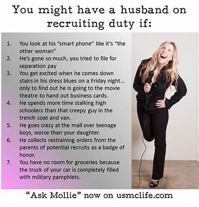 Recruiting Mollie Ask Billet Military Jokes Marine