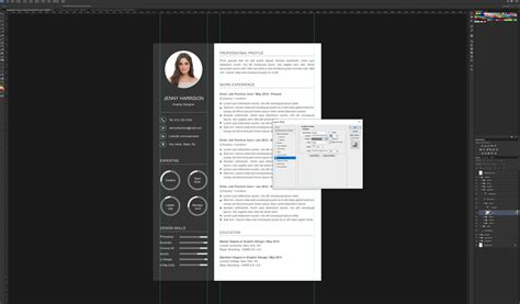 Photoshop Resume Template Free by How To Create A Resume Template In Photoshop Graphicadi