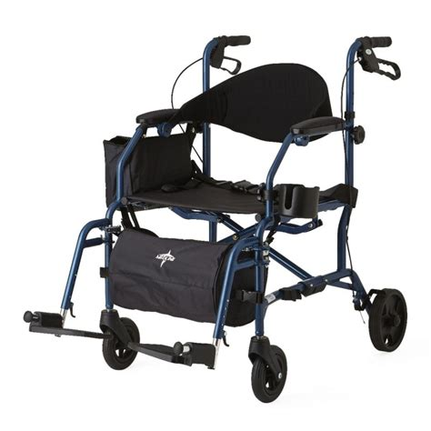 rollator walker transport chair combo combination rollator transport chair pulsemedicalgear