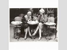 Frauen im Café Foto Postkarte