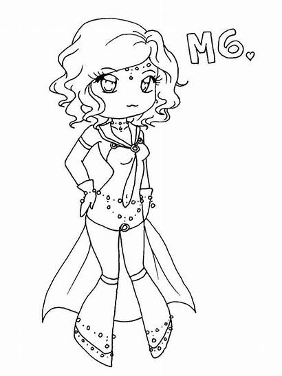 Chibi Coloring Pages Printable Messier Anime Deviantart