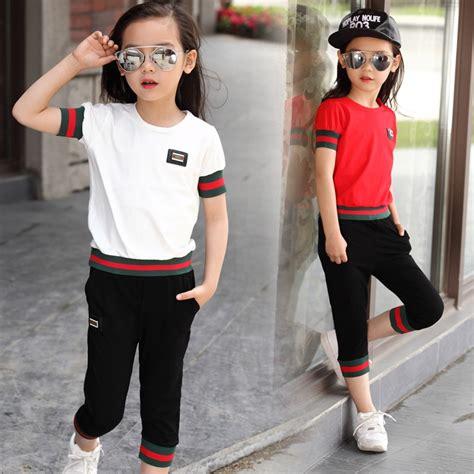 girl boys casual summer clotheschildren clothing