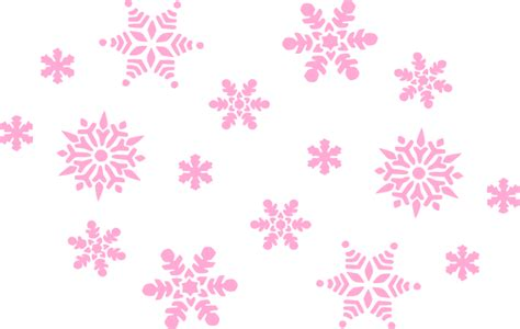 Silver Pink Snowflake Background by Pale Pink Snowflakes Clip At Clker Vector Clip