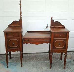 Hometalk Painted Upcycled Antique Vanity Nightstands