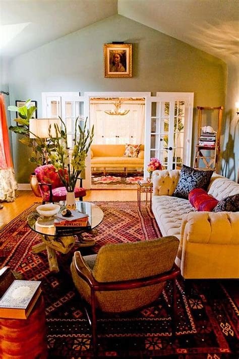 bohemian chic living rooms  inspired living
