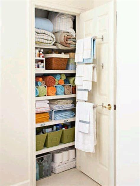 Organizing Bathroom Closet  Home  Bathrooms Pinterest