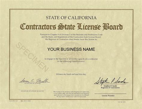contractors license exam requirements  fees