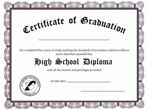 25+ High School Diploma Templates Free Download