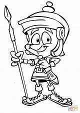Roman Soldier Coloring Pages Cartoon Drawing Soldiers Spear Rome Ancient Printable Gladiator Warrior Colouring Shield Brutus Greatest Drawings Sheets Caesar sketch template
