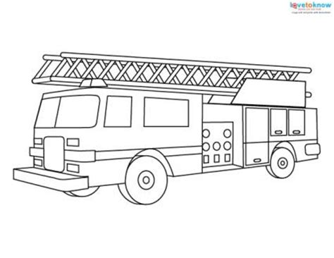 fire engine coloring pages lovetoknow