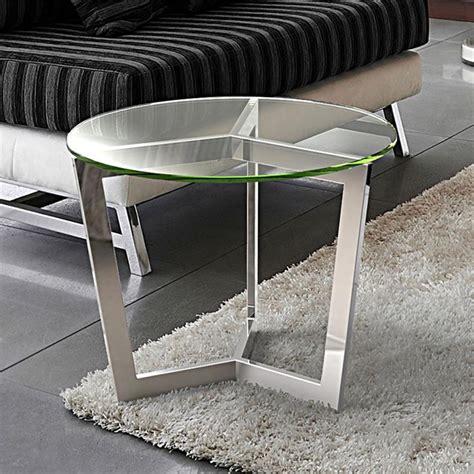 table bout de canap en verre bout de canapé en verre transparent sur cdc design