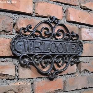 Aliexpress, Com, Buy, Welcome, Sign, Wall, Plaque, Home, Garden, Outdoor, Hanging, Decor, Decorative