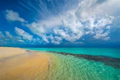 Turquoise Beach Tropical Caribbean Landscape Sea Nature