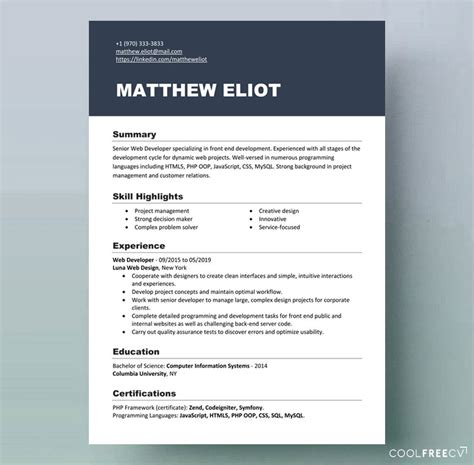 resume templates examples  word