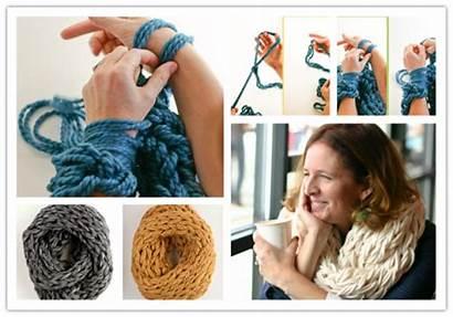 Arm Knitting Diy Tutorial Scarves Easy Scarf