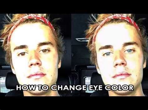 Justin Bieber Eyes Color Change