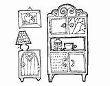 Living Furniture Coloring Coloringcrew sketch template