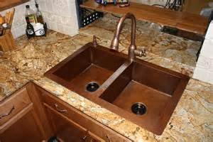 copper faucet kitchen five inc countertops 6 most popular sink styles for granite countertops