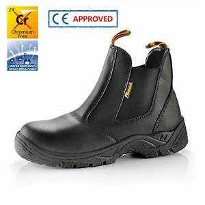Chaussure De Securite Sans Lacet : chaussures de s curit en cuir sans lacets m 8025black ~ Farleysfitness.com Idées de Décoration