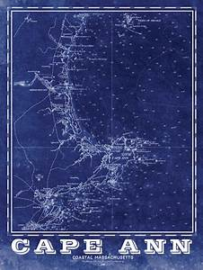 Cape Ann Vintage Nautical Map – I Lost My Dog
