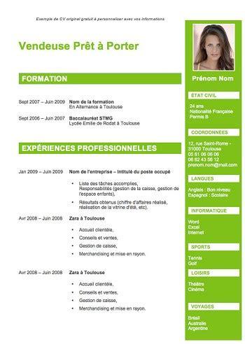 Modele Cv Recent by Modele De Cv Recent Gratuit