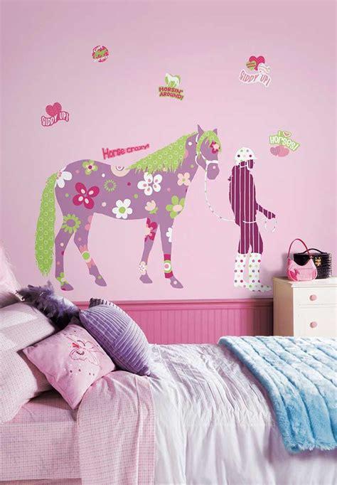Wandtattoo Kinderzimmer Mädchen Pferde by Roommates Wandbild Wandsticker Pferd Reiterin Kinderzimmer