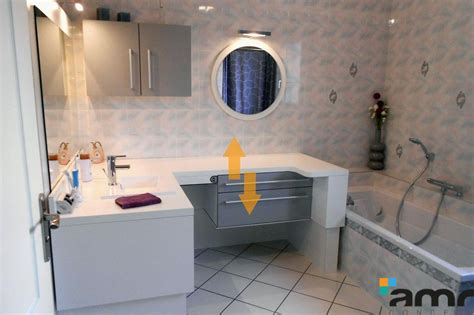 am 233 nagement salle de bains hauteur variable pour handicap pmr senior