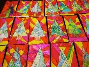 Picasso's Christmas Trees Geor own Elementary Art Blog