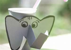Basteln Mit Plastikbecher : basteln mit kindern kostenlose bastelvorlage basteltipps f r den kindergeburtstag elefant ~ Orissabook.com Haus und Dekorationen