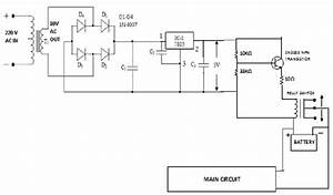 Schematic Diagram Of Low Voltage Regulated Power Supply And Charger