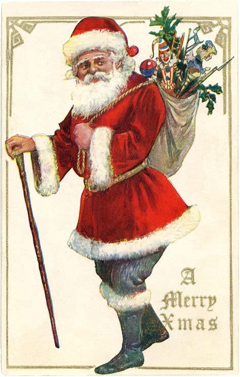 antique santa  cane image  graphics fairy