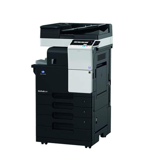 La galardonada impresora multifuncional bizhub 367 de konica minolta incluye modos de ahorro de costes y energía así como impresión móvil. Konica Minolta bizhub 367 Mono Printer Copier