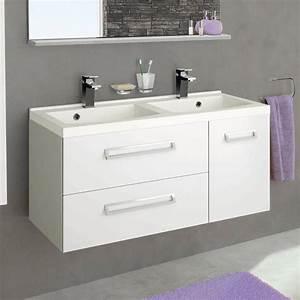 Meuble Vasque Sur Pied : meuble salle de bain sur pied double vasque ~ Teatrodelosmanantiales.com Idées de Décoration