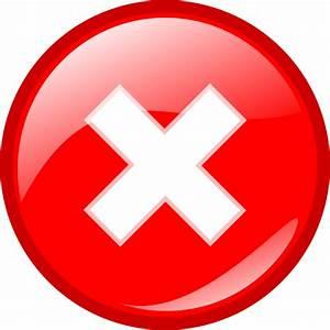 Round Error Warning Button Clip Art at Clker.com - vector ...
