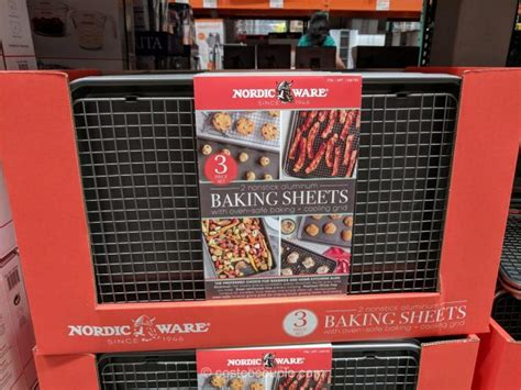 sheet baking stick non nordicware costco sheets aluminum half oven measuing includes