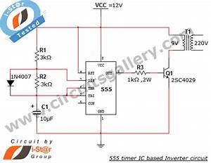 555 Timer Ic Inverter Circuit Schematic 12v To 220v