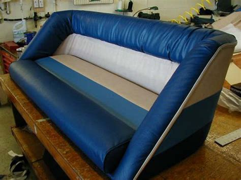 Leather Boat Cushions by Custom Boat Cushions And Upholstery