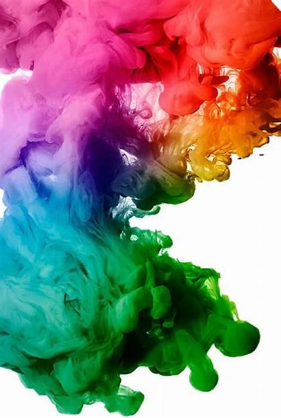 Colourful Colour Ink Paint Splatter Water Cloud