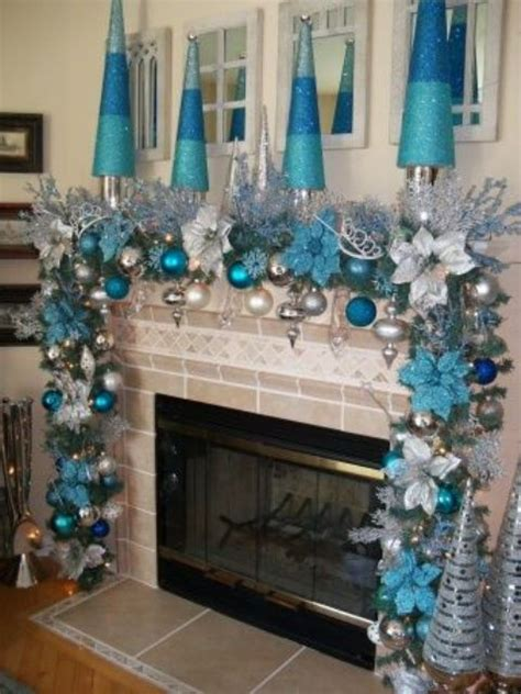 silver  blue decor ideas  christmas   year