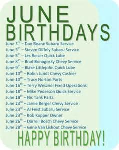 June Birthday and Anniversary