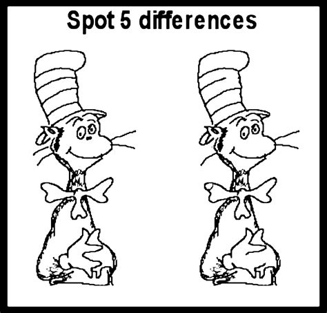 spot  difference coloring pages   print