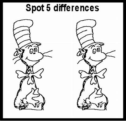 Activity Spot Pages Coloring Seuss Dr Difference