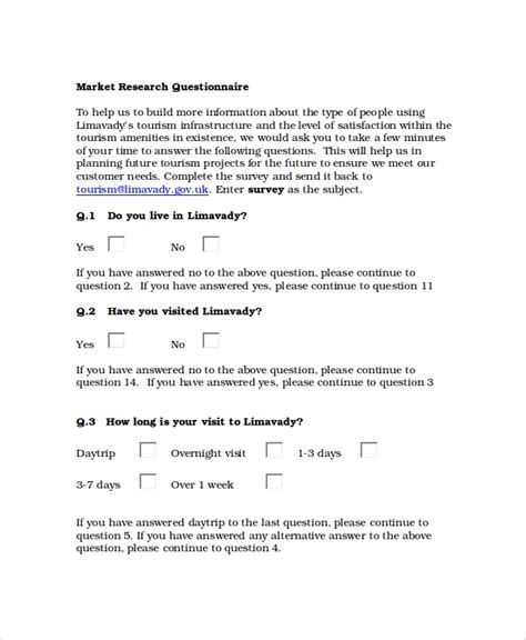 market research questionnaire template word questionnaire template free word document downloads free premium templates