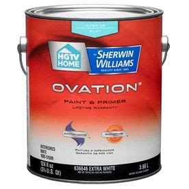 hgtv home by sherwin williams ovation white flat