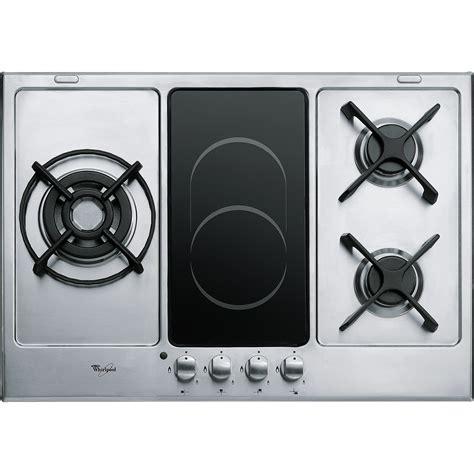 superbe plaque de cuisson induction et gaz 14 sti965b noir verre mixte 2 gaz 2 induction 4