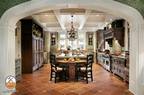 traditional kitchen featuring rutt s florentine door style