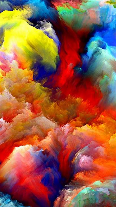 Colorful Clouds Painting Oil Wallpapers Htc