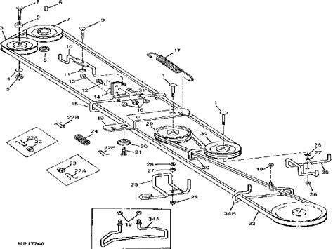 John Deere Stx Drive Belt Diagram Mower Belts