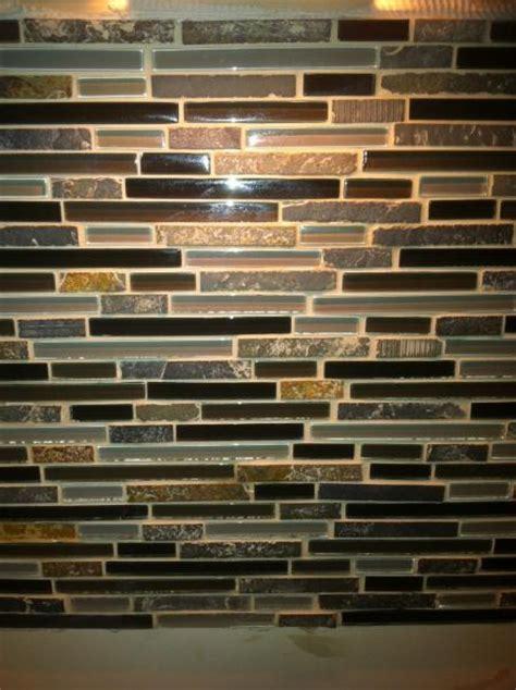 dried grout  stone  mosaic backsplash