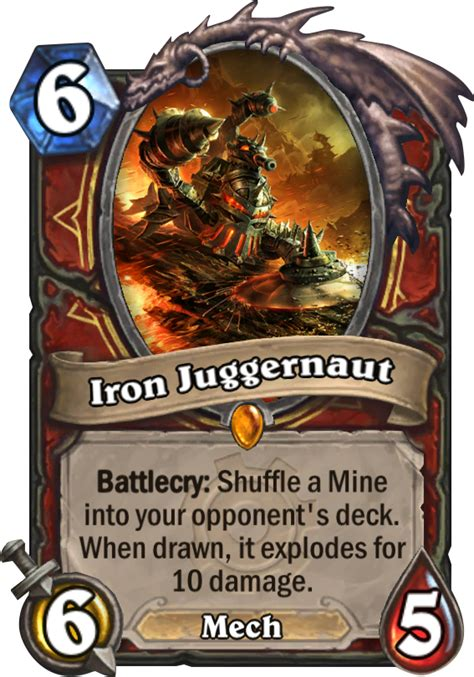 Hearthstone Decks Warrior Mech by Iron Juggernaut Hearthstone Card